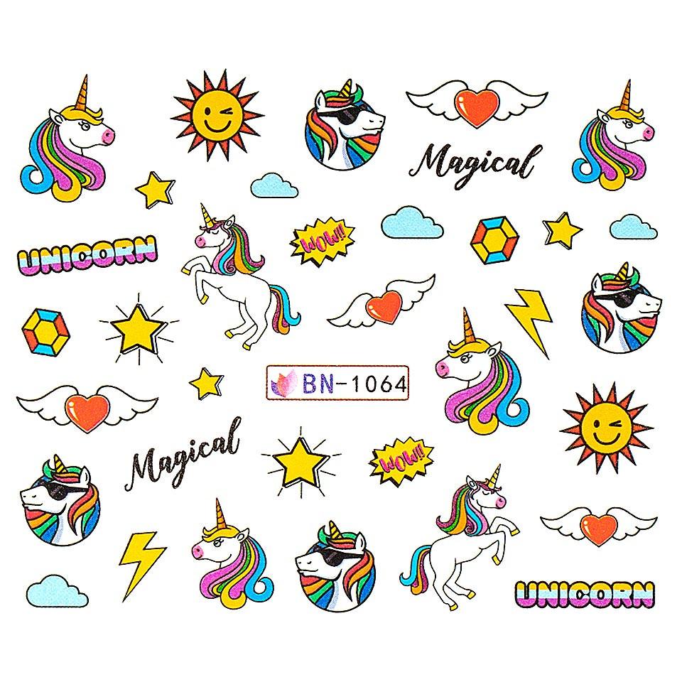 Tatuaj unghii LUXORISE, Unicorn BN-1064 imagine produs