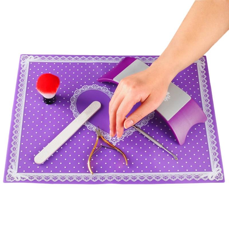suport mana manichiura ergonomic premium indigo silicone nail art