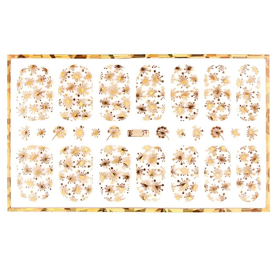Abtibild unghii cu modele aurii H001 imagine produs