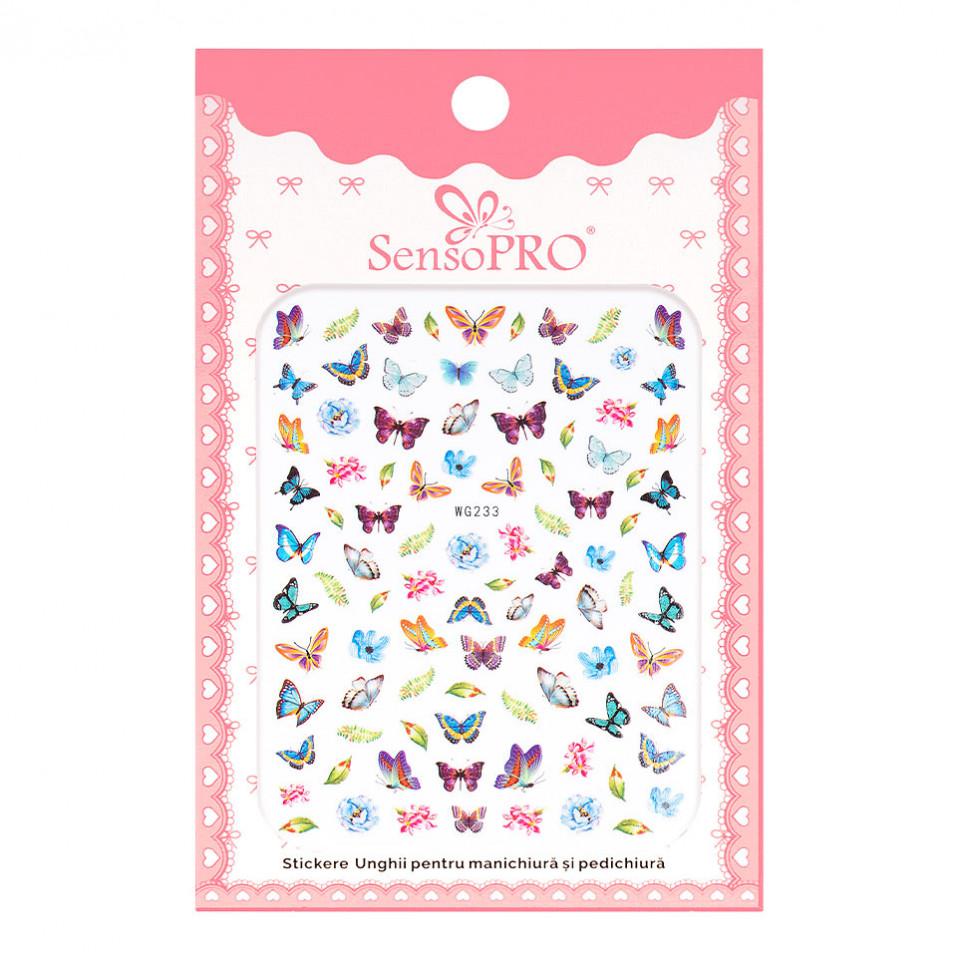 Abtibilduri unghii SensoPRO Magic Butterfly, model WG233 kitunghii.ro