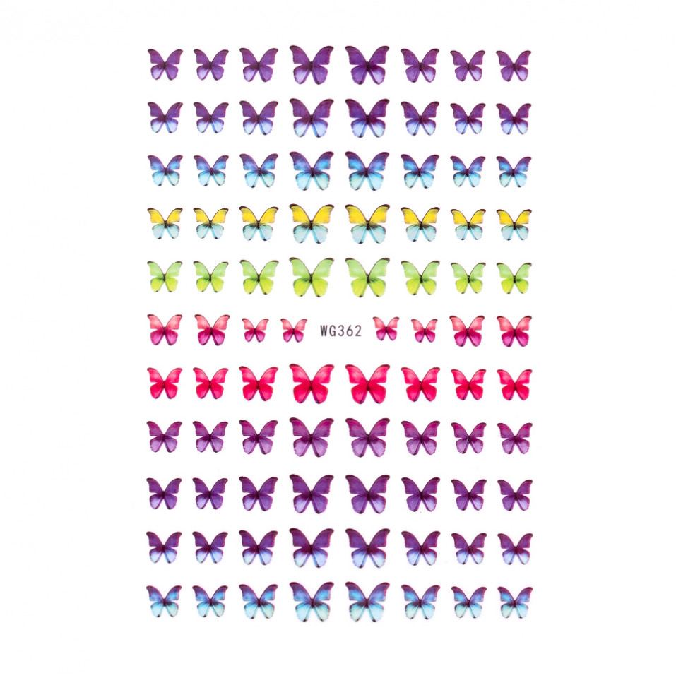 Abtibilduri unghii SensoPRO Magic Butterfly, model WG362 kitunghii.ro