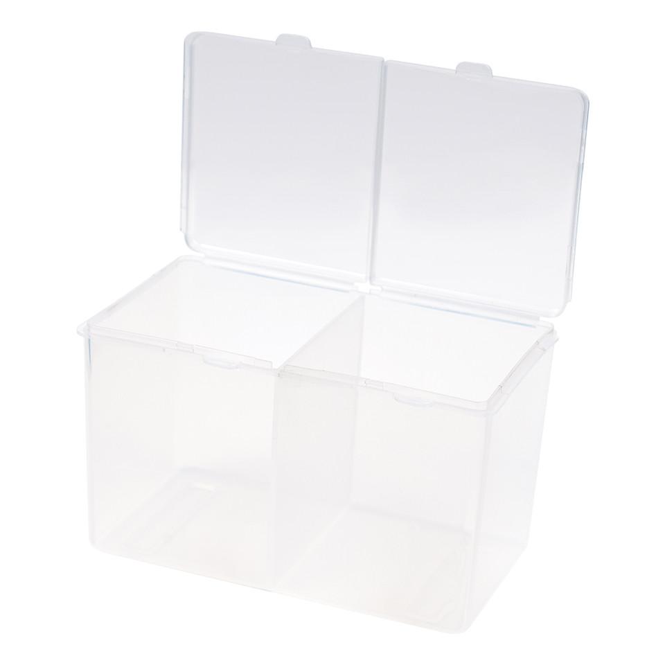 Cutie Compartimentata Depozitare Accesorii Unghii, Alb imagine produs