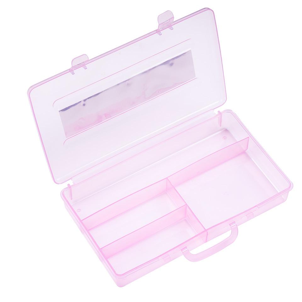 Cutie Manichiura Compartimentata - Recipient Nail - Art cu 4 Sloturi Sweet Pink kitunghii.ro