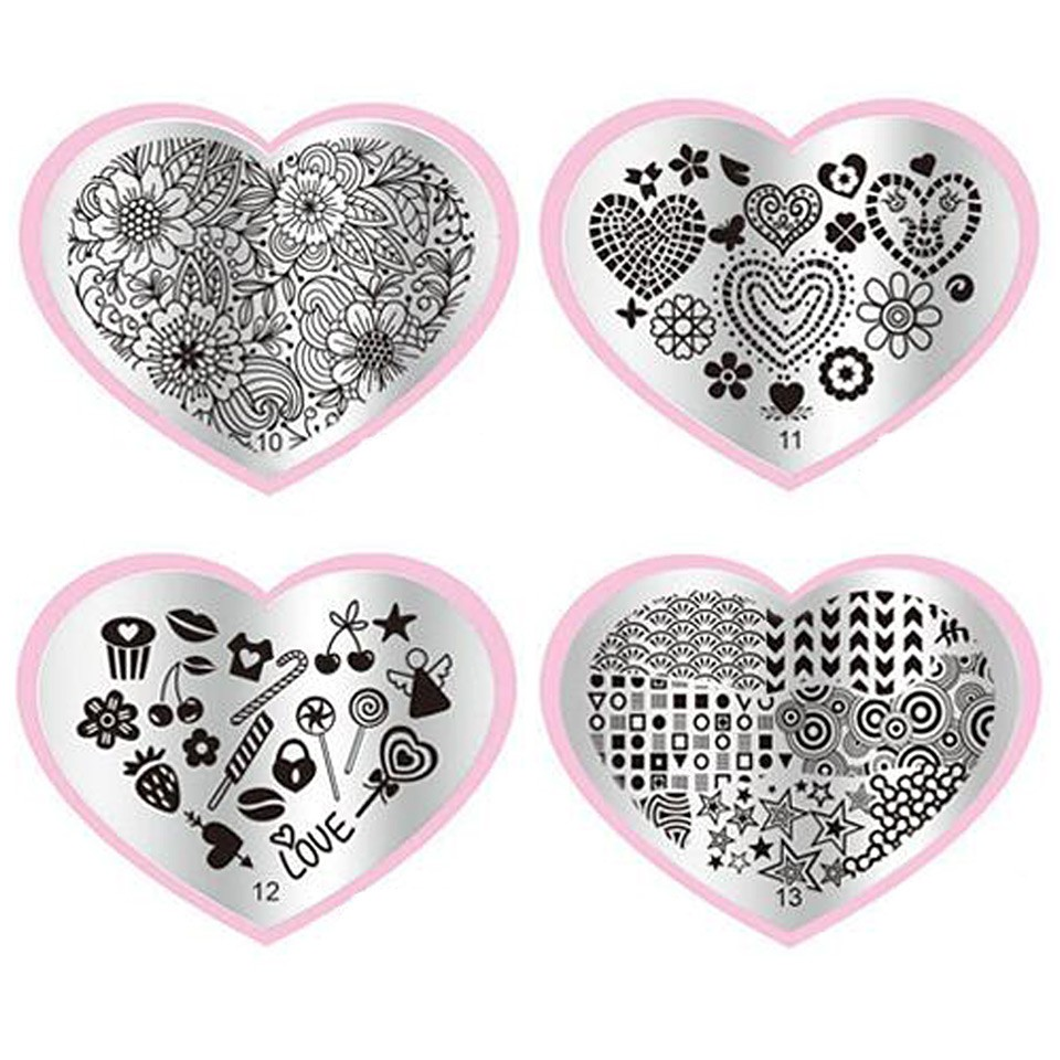 Matrita Metalica Stampila Unghii Cherry - Love Story imagine 2021 kitunghii