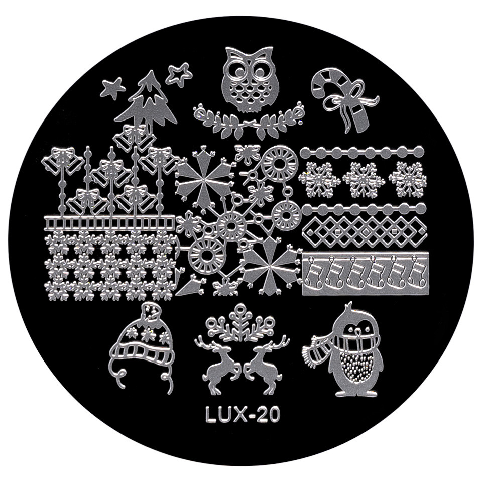 Matrita Metalica Stampila Unghii LUX-20 - Winter's Tale poza noua