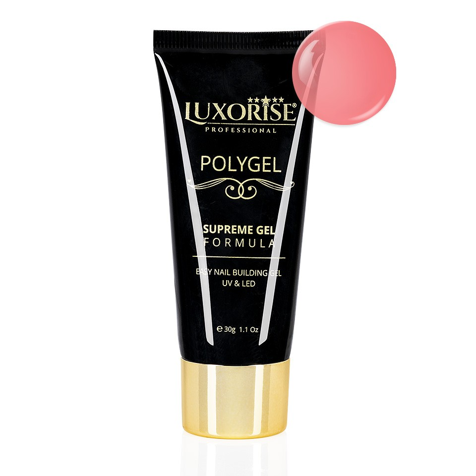 Polygel Supreme Gel LUXORISE 30g, Sweet Pink LX002 imagine 2021 kitunghii