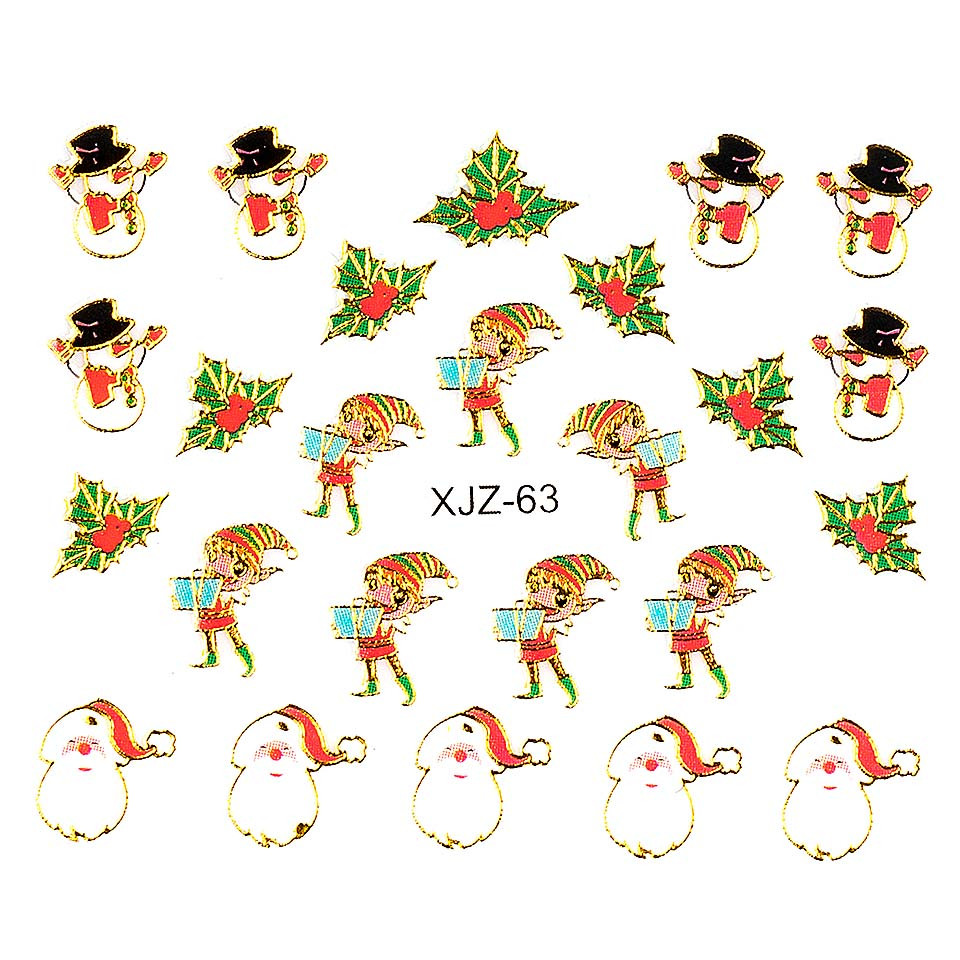 Sticker 3D Unghii LUXORISE XJZ-63, Christmas Collection imagine 2021 kitunghii