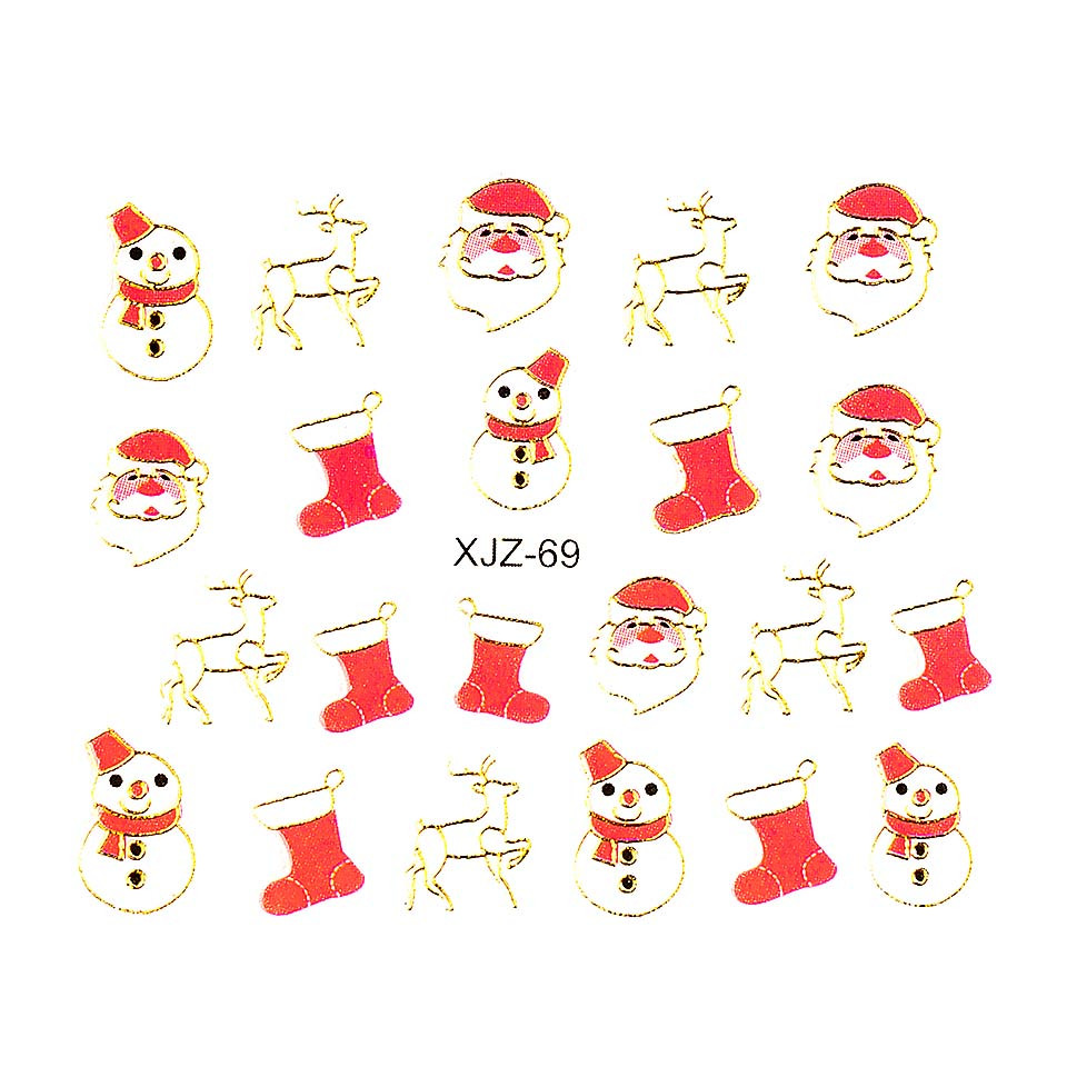 Sticker 3D Unghii LUXORISE XJZ-69, Christmas Collection kitunghii.ro