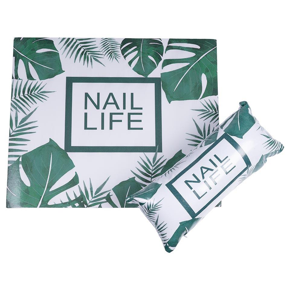 Suport Mana + Protectie Masa Manichiura Express Nails, Tropical Style imagine 2021 kitunghii