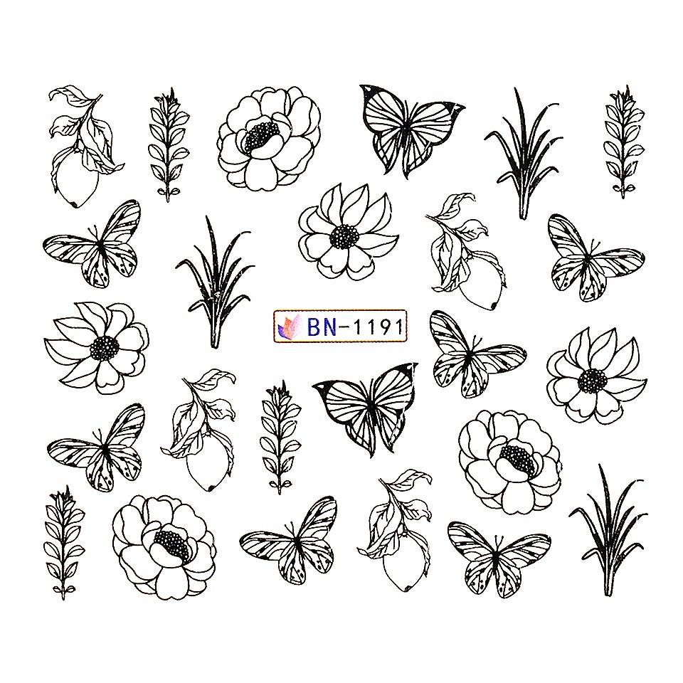 Tatuaj unghii LUXORISE, Butterfly BN-1191 kitunghii.ro