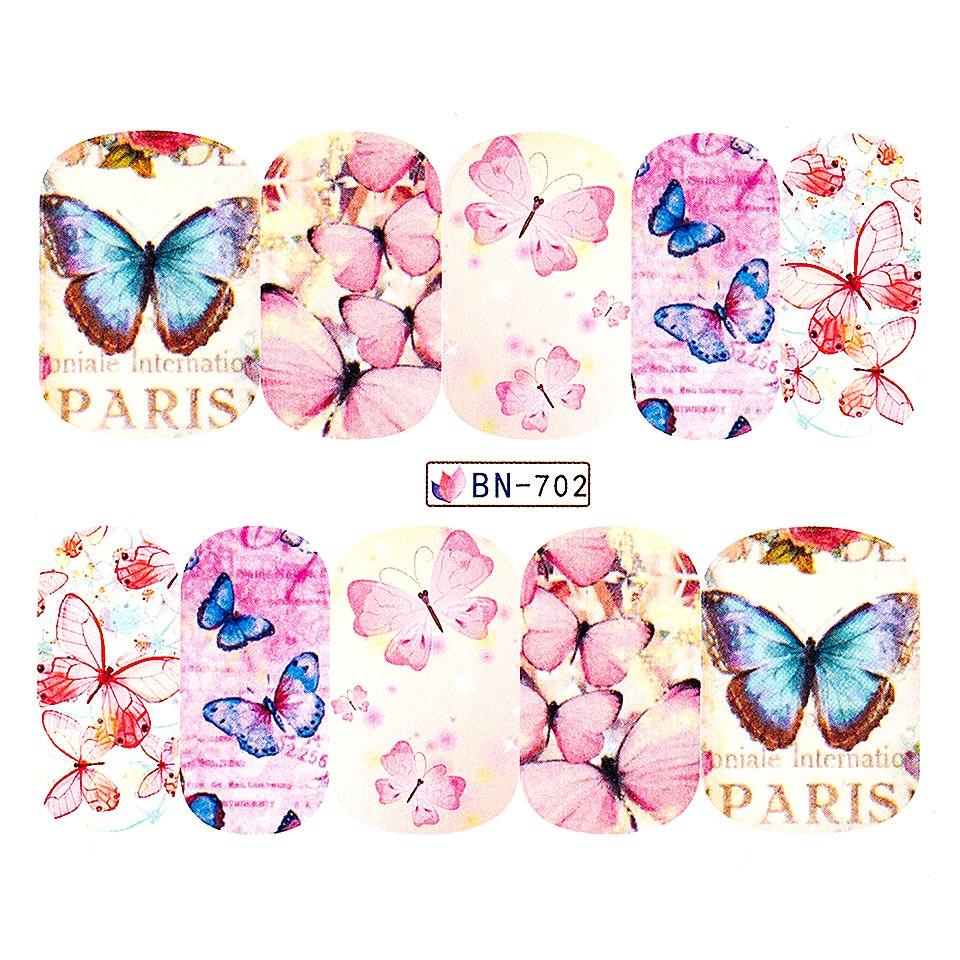 Tatuaj unghii LUXORISE, Butterfly BN-702 imagine 2021 kitunghii