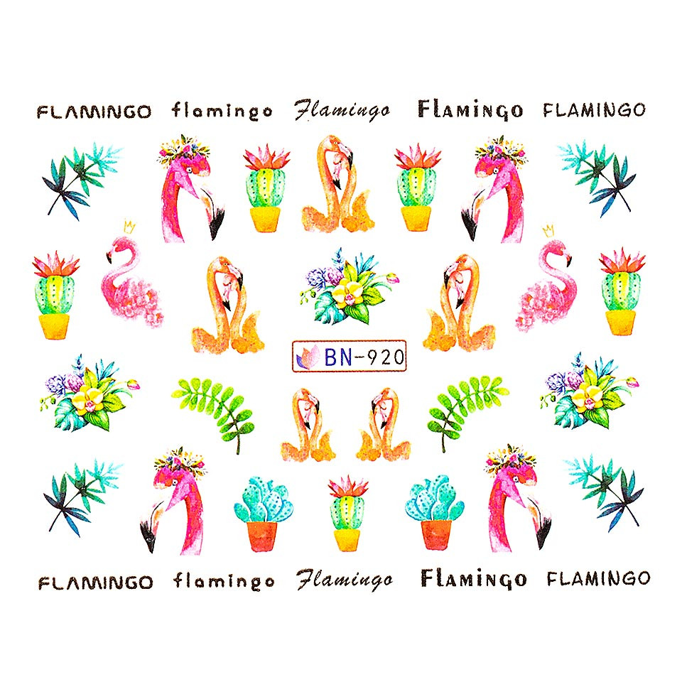 Tatuaj unghii LUXORISE, Flamingo BN-920 kitunghii.ro