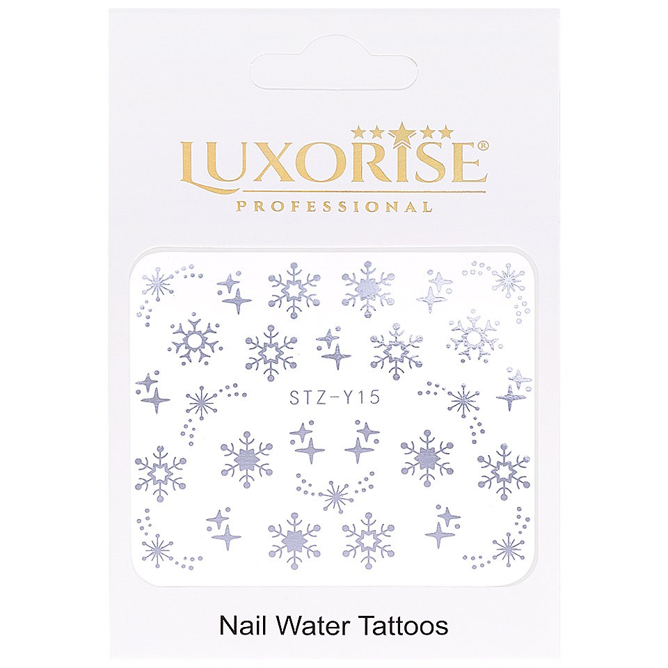 Tatuaj unghii LUXORISE, Winter STZ-Y15 argintiu