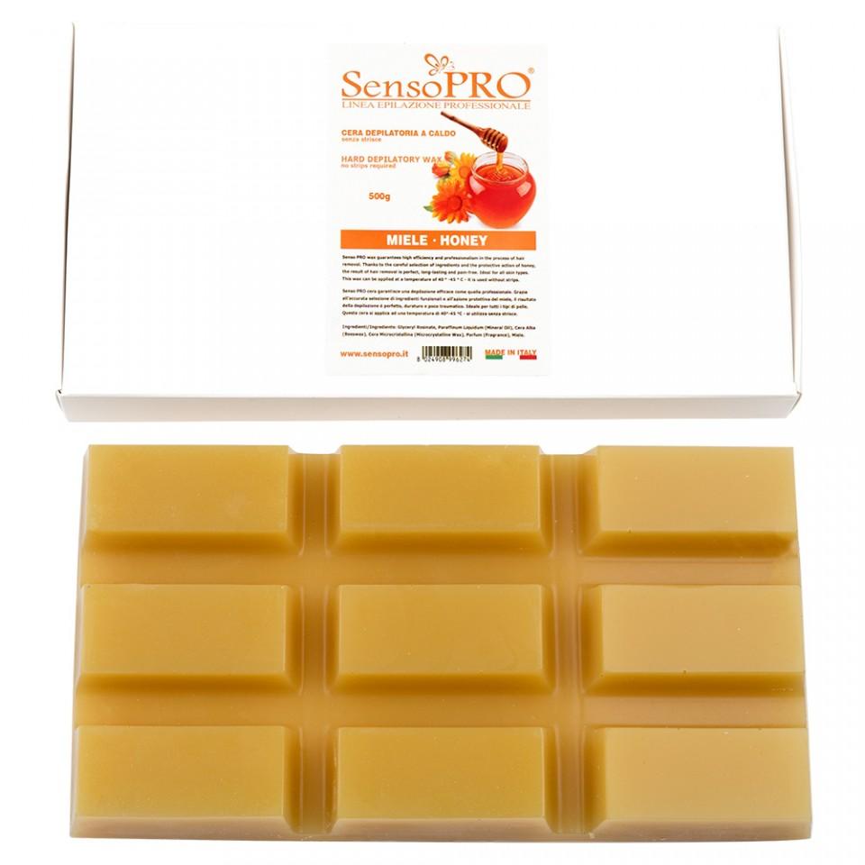 ceara epilat elastica refolosibila senso pro - honey hard wax, 500g