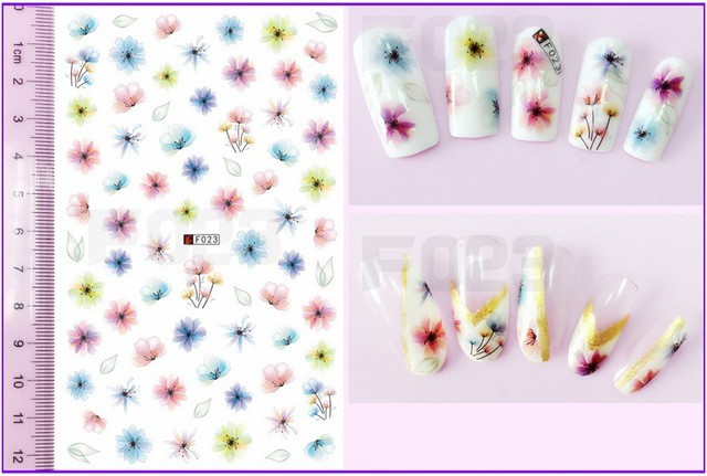 Folie Stickere unghii, model F023