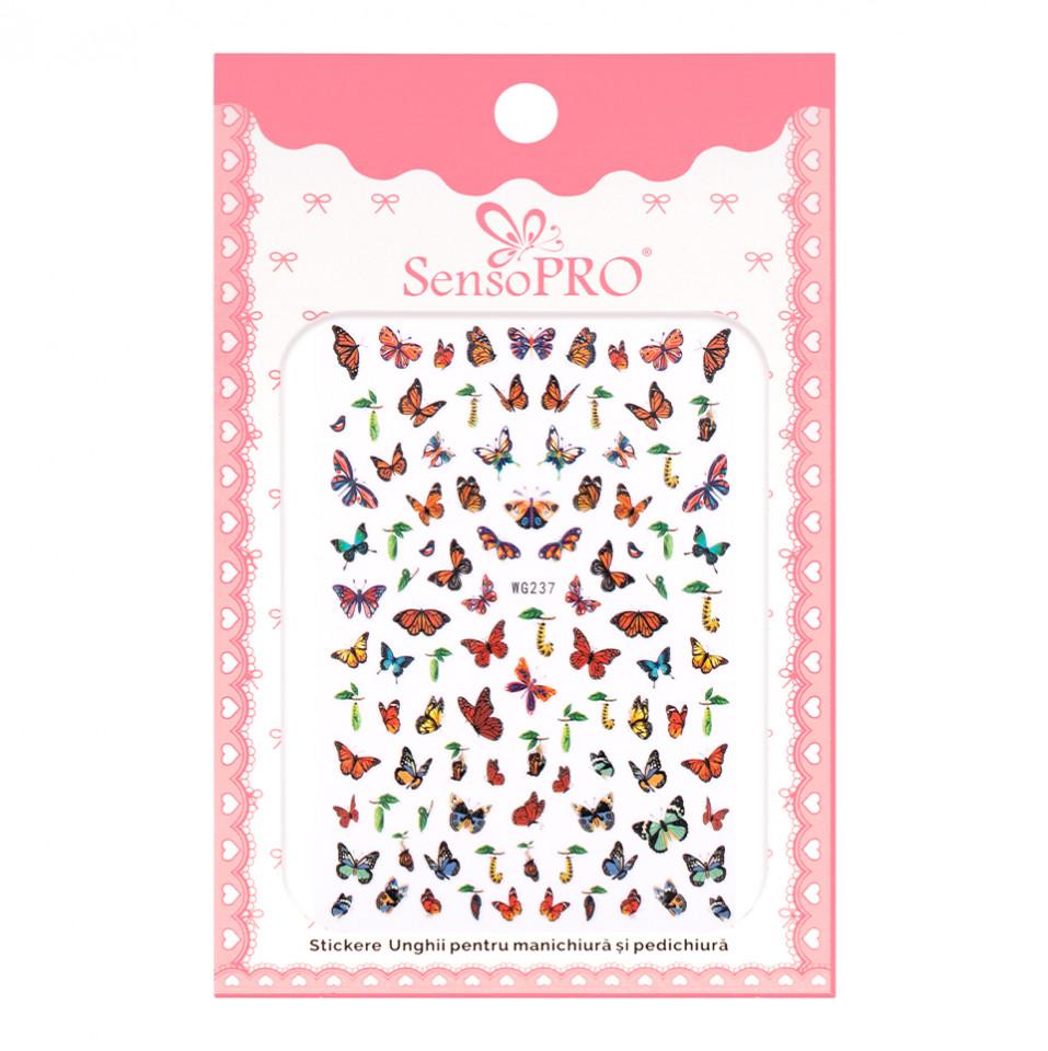 Abtibilduri unghii SensoPRO Magic Butterfly, model WG237 kitunghii.ro