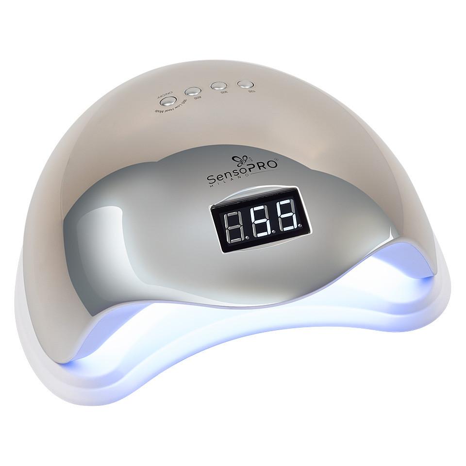 Lampa UV LED 48W SUN5 PRO SensoPRO Milano, Platinum Silver imagine 2021 kitunghii