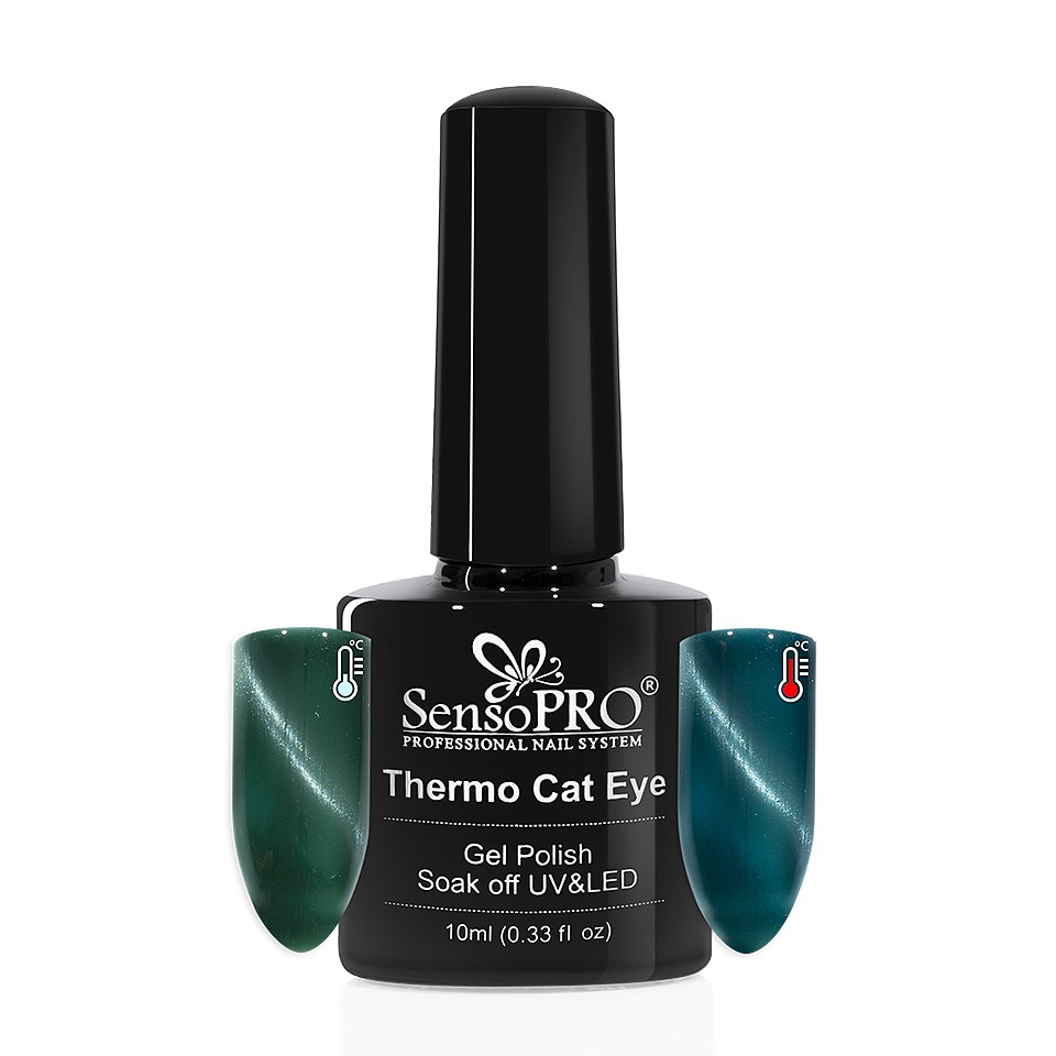 Oja Semipermanenta Thermo Cat Eye SensoPRO 10 ml, #01 imagine 2021 kitunghii