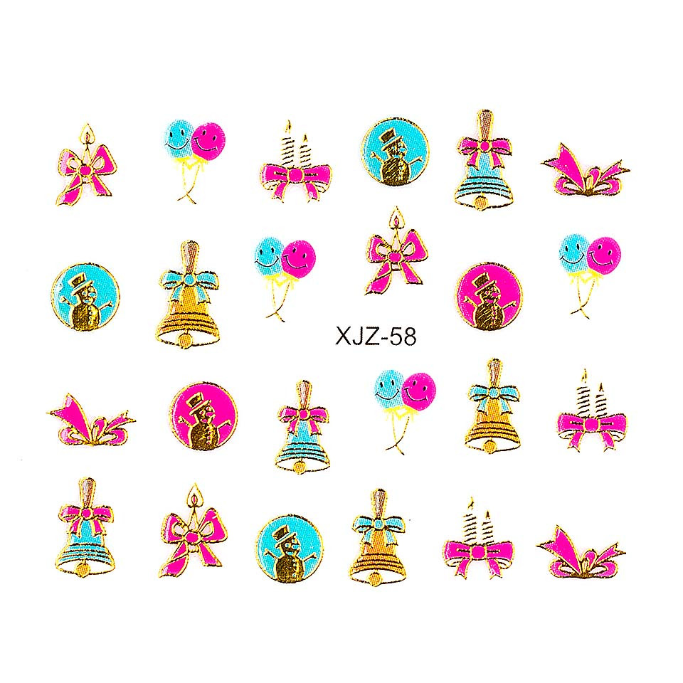 Sticker 3D Unghii LUXORISE XJZ-58, Christmas Collection imagine 2021 kitunghii