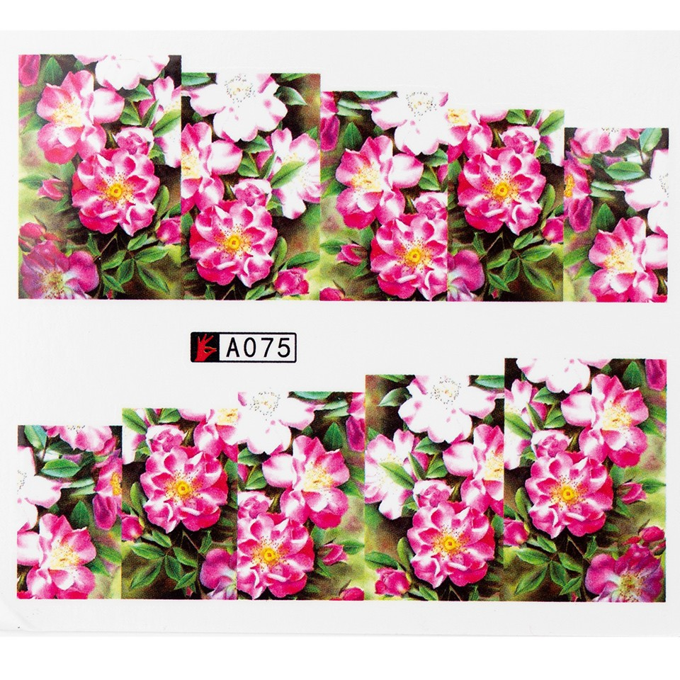 Tatuaj unghii A075 flori imagine produs