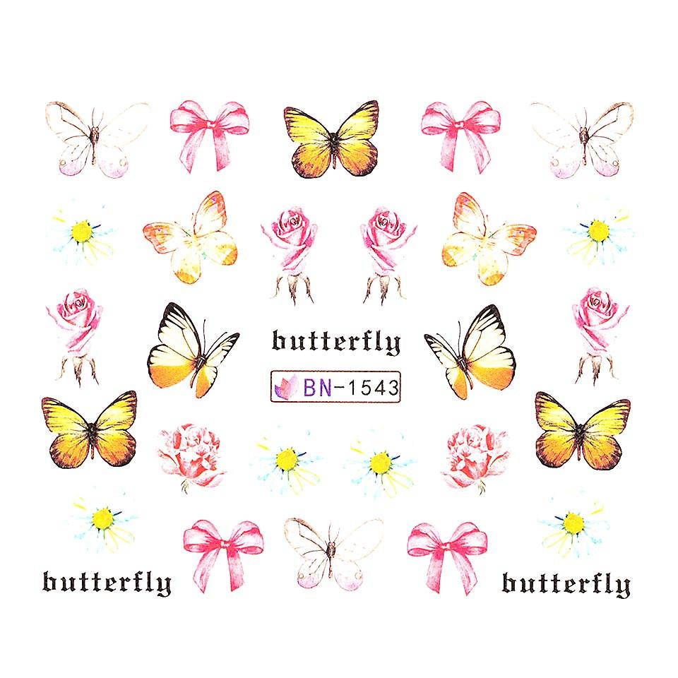 Tatuaj unghii LUXORISE, Butterfly BN-1543 kitunghii.ro