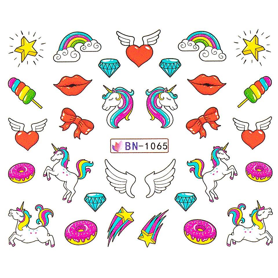 Tatuaj unghii LUXORISE, Unicorn BN-1065 imagine produs