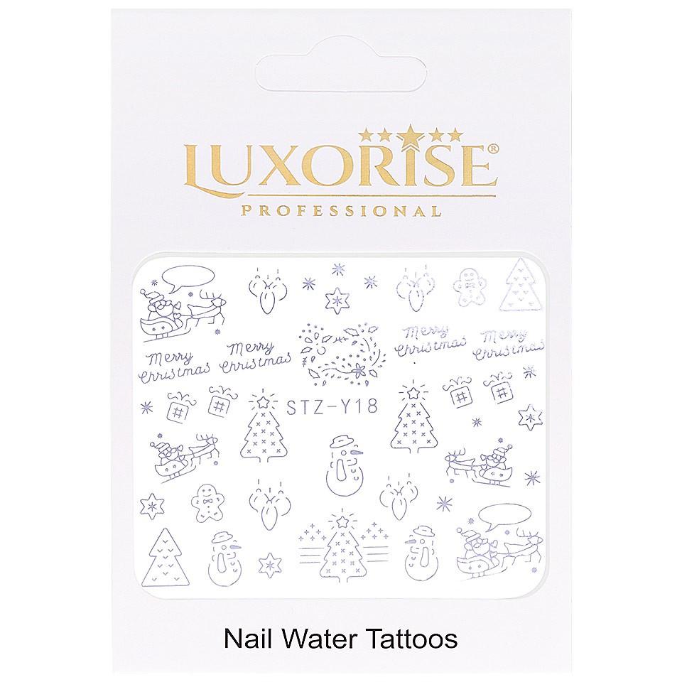 Tatuaj unghii LUXORISE, Winter STZ-Y18 argintiu imagine produs