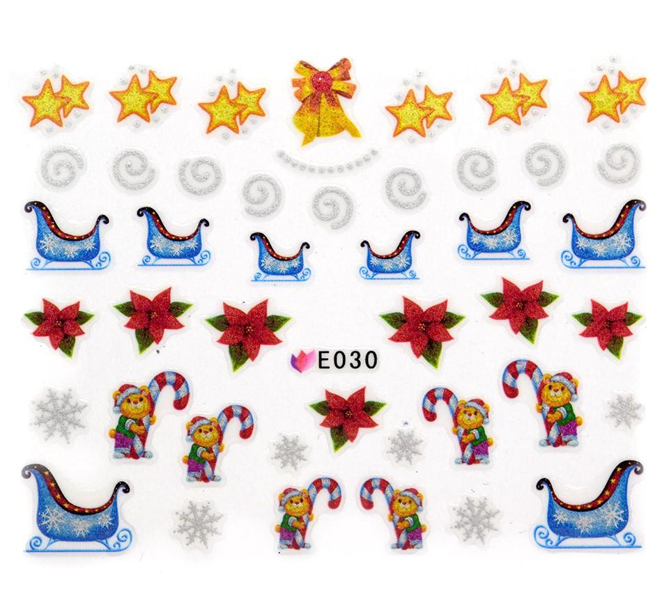 Folie Sticker 3D unghii, model E030 - Incredible Christmas