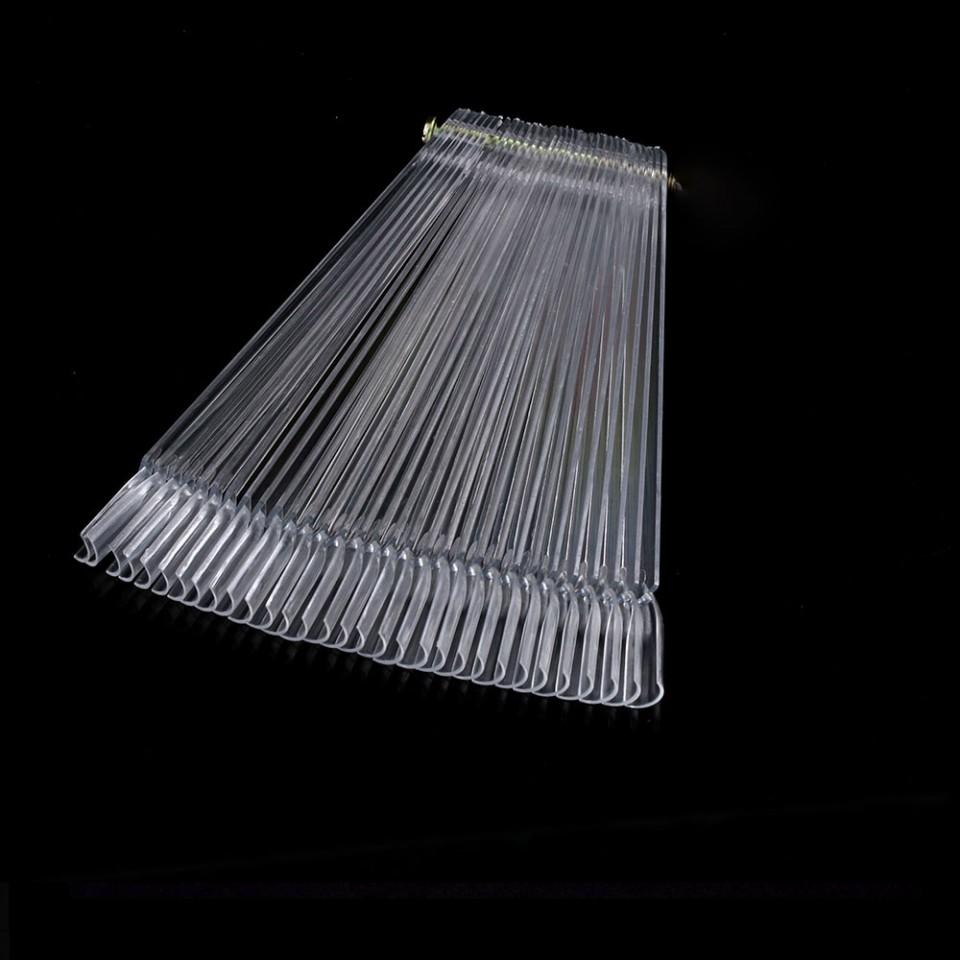 Paletar unghii evantai 50 de pozitii exersare si expunere, transparent, surub