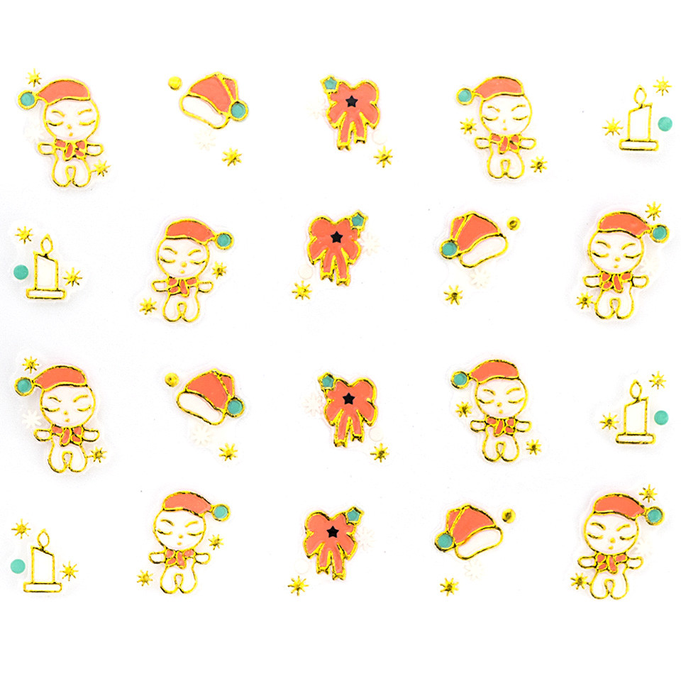Folie Sticker 3D unghii, model xj014