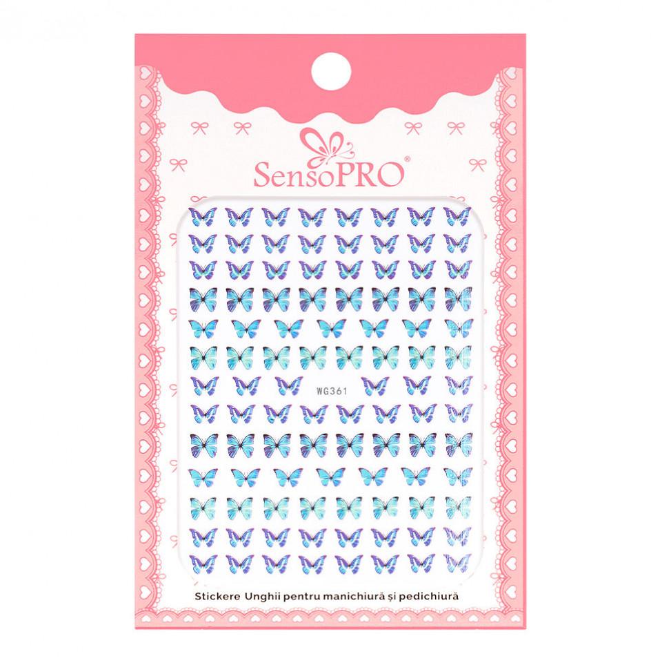 Abtibilduri unghii SensoPRO Magic Butterfly, model WG361 kitunghii.ro