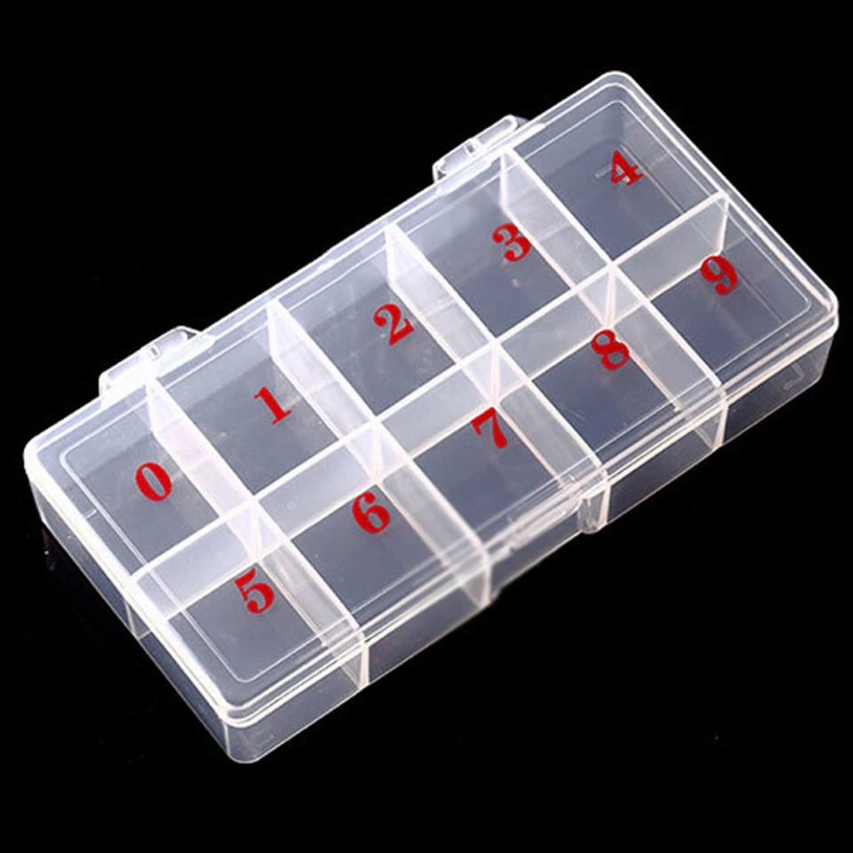 Cutie Compartimentata pentru accesorii Nail-Art, 10 sloturi