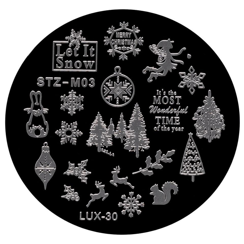 Matrita Metalica Stampila Unghii LUX-30 - Winter's Tale poza