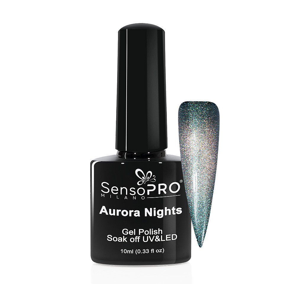 Oja Semipermanenta Aurora Nights SensoPRO 10ml - 03 Smarald Sky imagine 2021 kitunghii