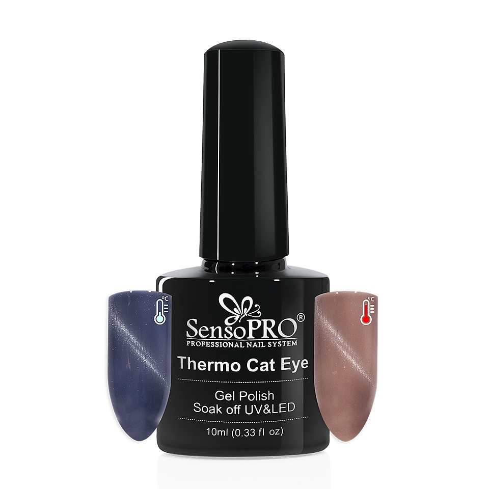 Oja Semipermanenta Thermo Cat Eye SensoPRO 10 ml, #22 imagine 2021 kitunghii