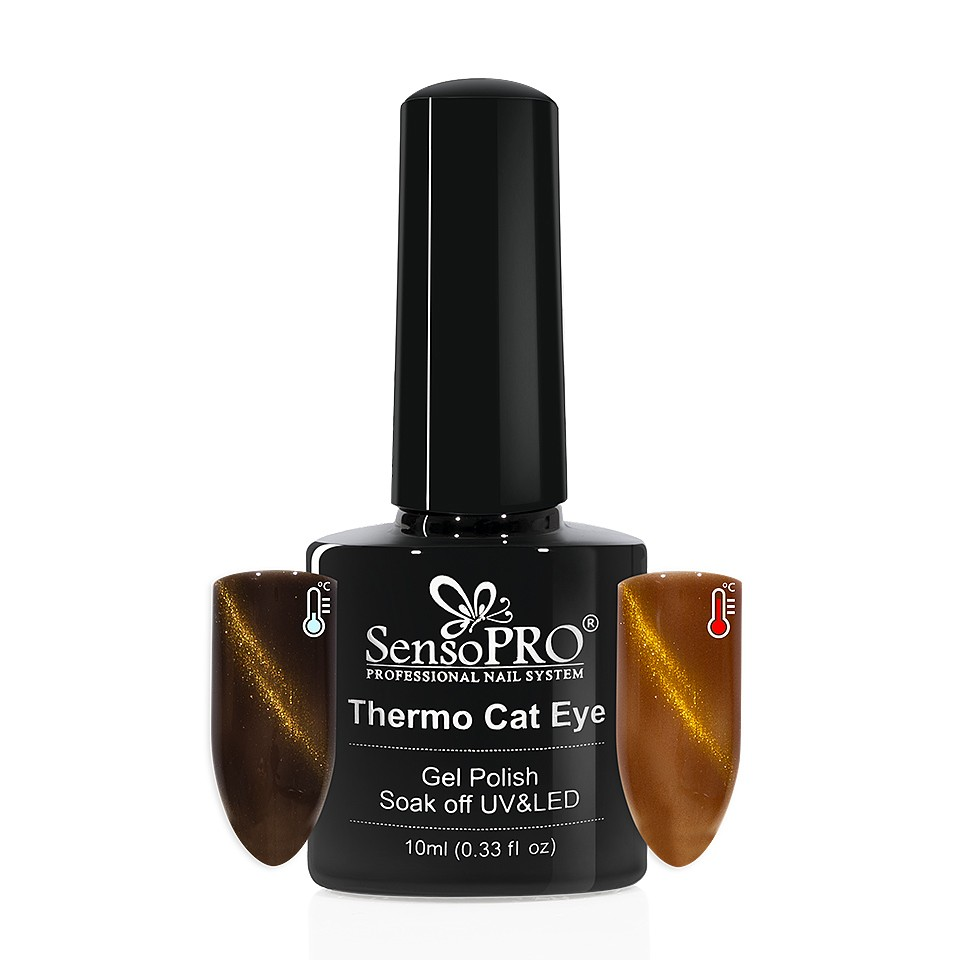 Oja Semipermanenta Thermo Cat Eye SensoPRO 10 ml, #34 imagine 2021 kitunghii
