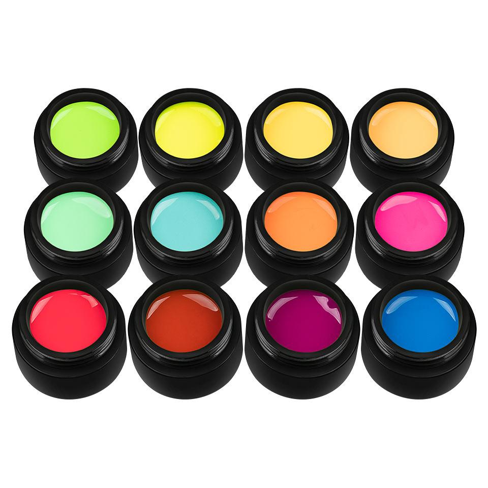 Set 12 Geluri UV Colorate Neon City Collection, SensoPRO Milano imagine 2021 kitunghii