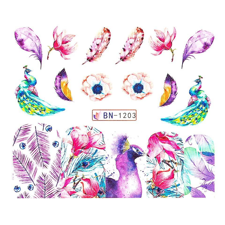 Tatuaj unghii LUXORISE, Peacock BN-1203 imagine produs