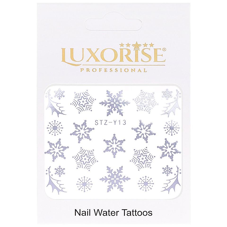 Tatuaj unghii LUXORISE, Winter STZ-Y13 argintiu imagine produs