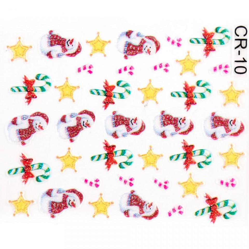 Folie Sticker 3D unghii, model CR-10 kitunghii.ro