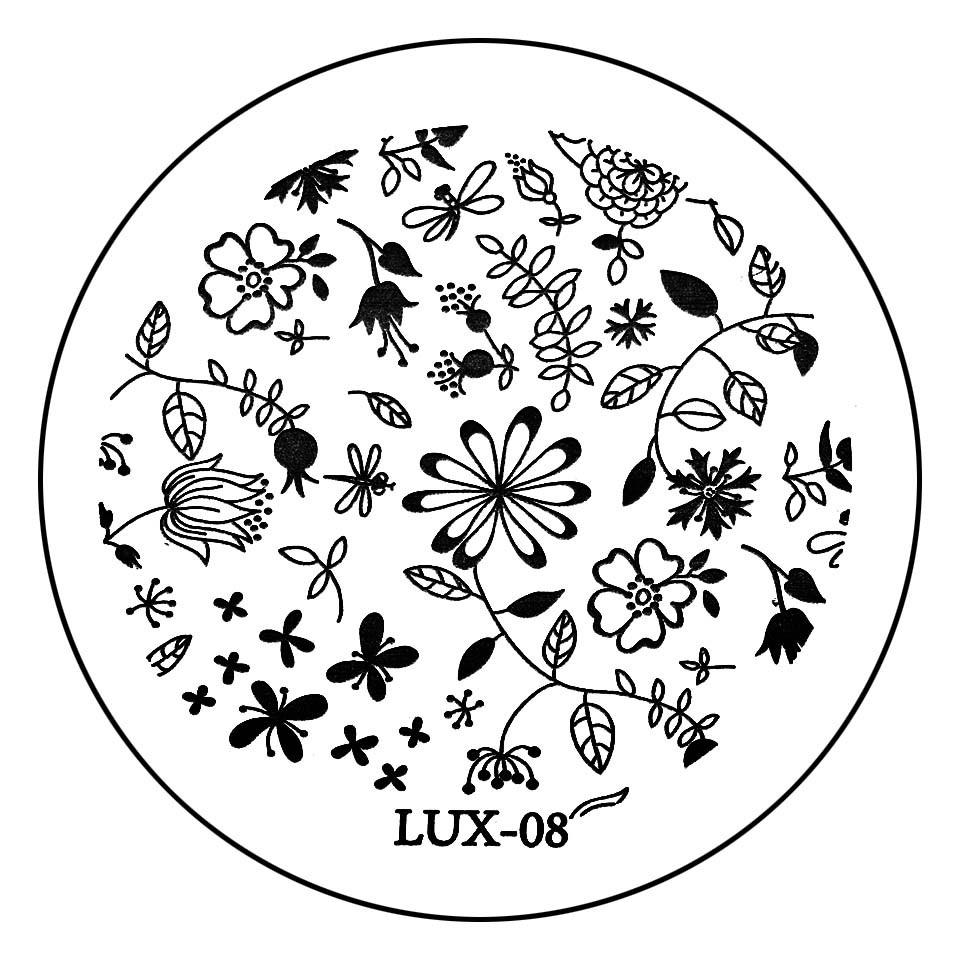 Matrita Metalica Stampila Unghii LUX-08 - Nature imagine 2021 kitunghii