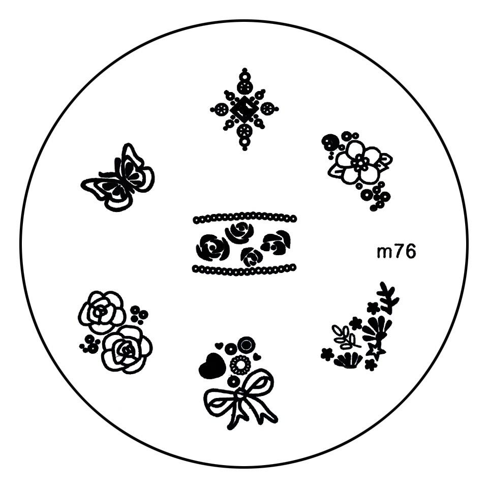 Matrita Metalica Stampila Unghii M76 - Nature kitunghii.ro
