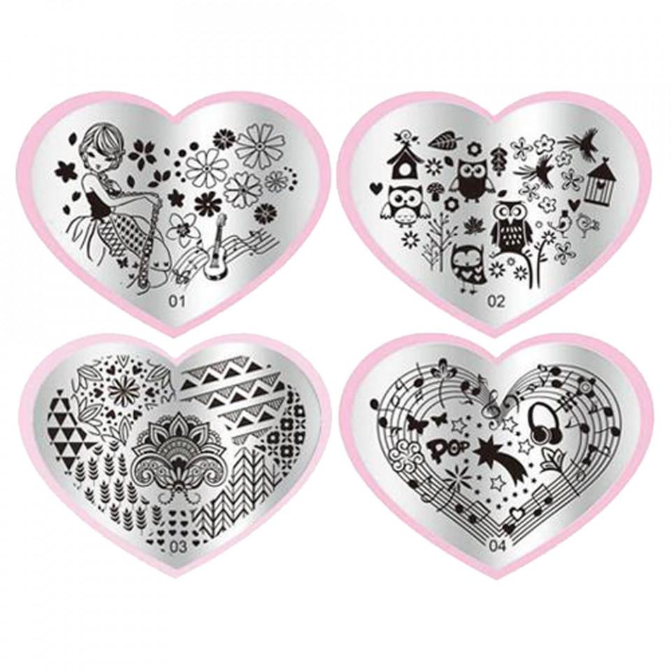 Matrita Metalica Stampila Unghii Venus - Fashion Love Story imagine 2021 kitunghii