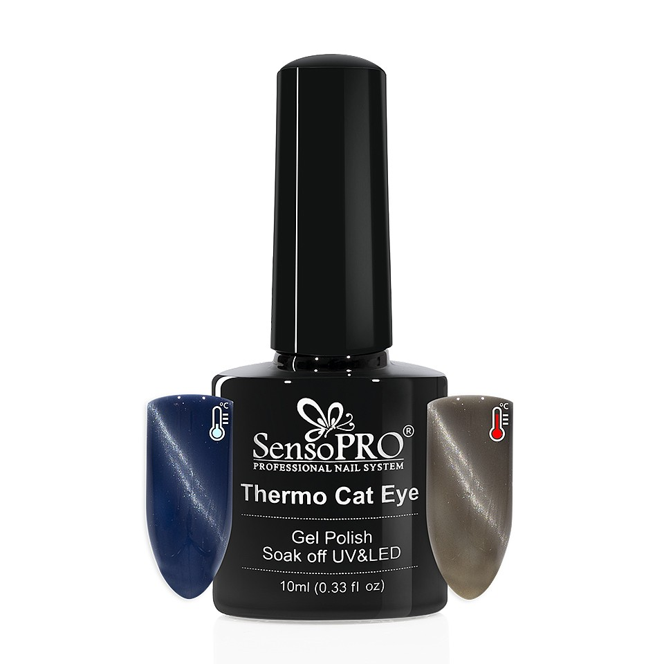 Oja Semipermanenta Thermo Cat Eye SensoPRO 10 ml, #23 imagine 2021 kitunghii