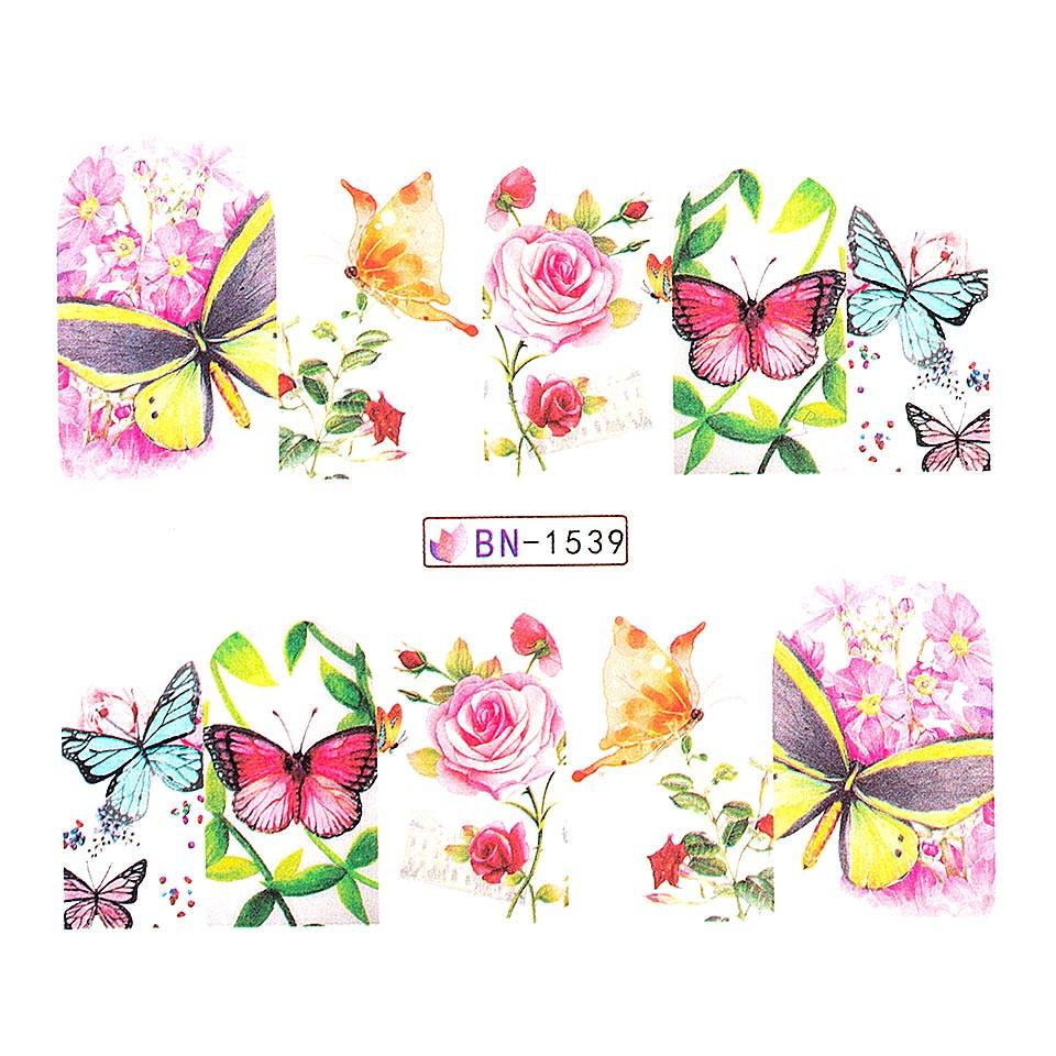 Tatuaj unghii LUXORISE, Butterfly BN-1539 kitunghii.ro