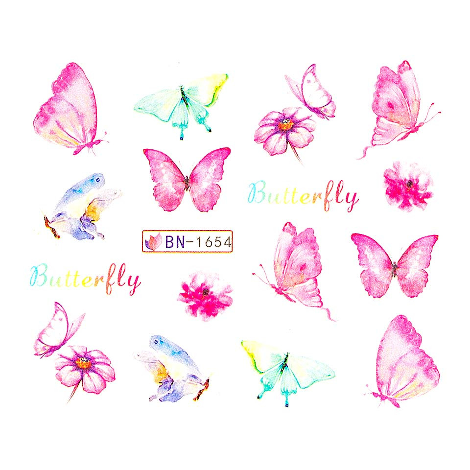Tatuaj unghii LUXORISE, Butterfly BN-1654 kitunghii.ro