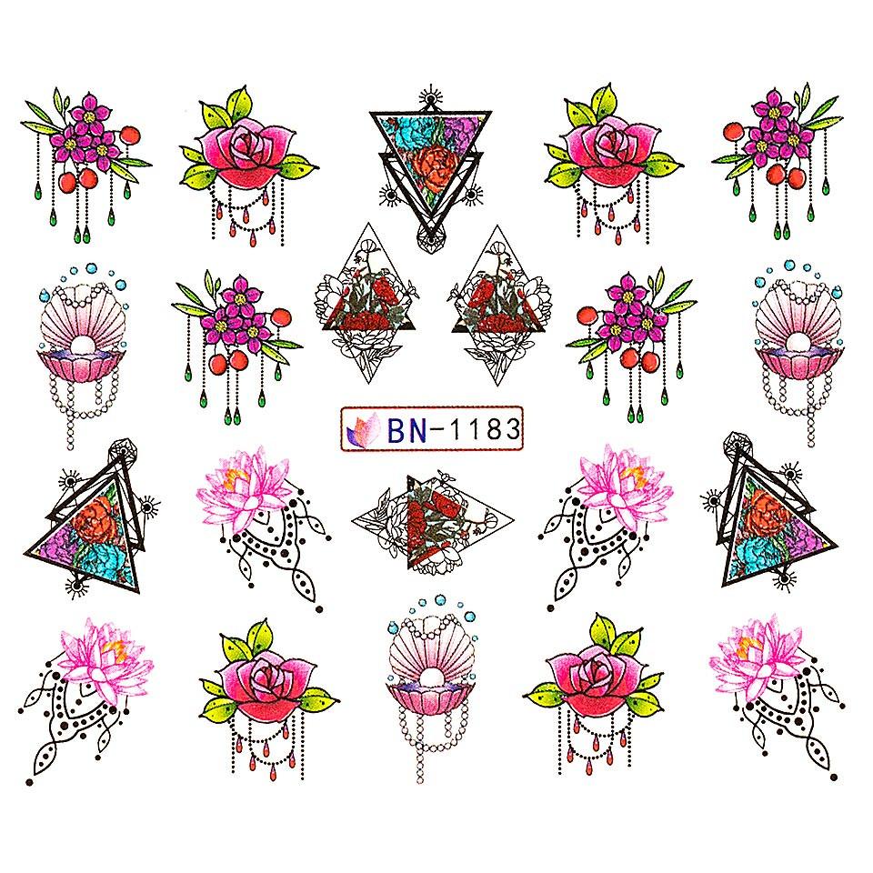 Tatuaj unghii LUXORISE, Fantasy BN-1183
