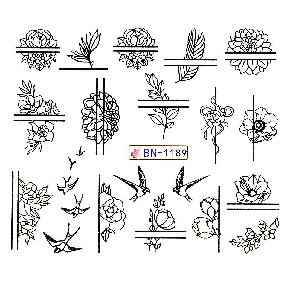 Tatuaj unghii LUXORISE, Fantasy BN-1189 imagine 2021 kitunghii