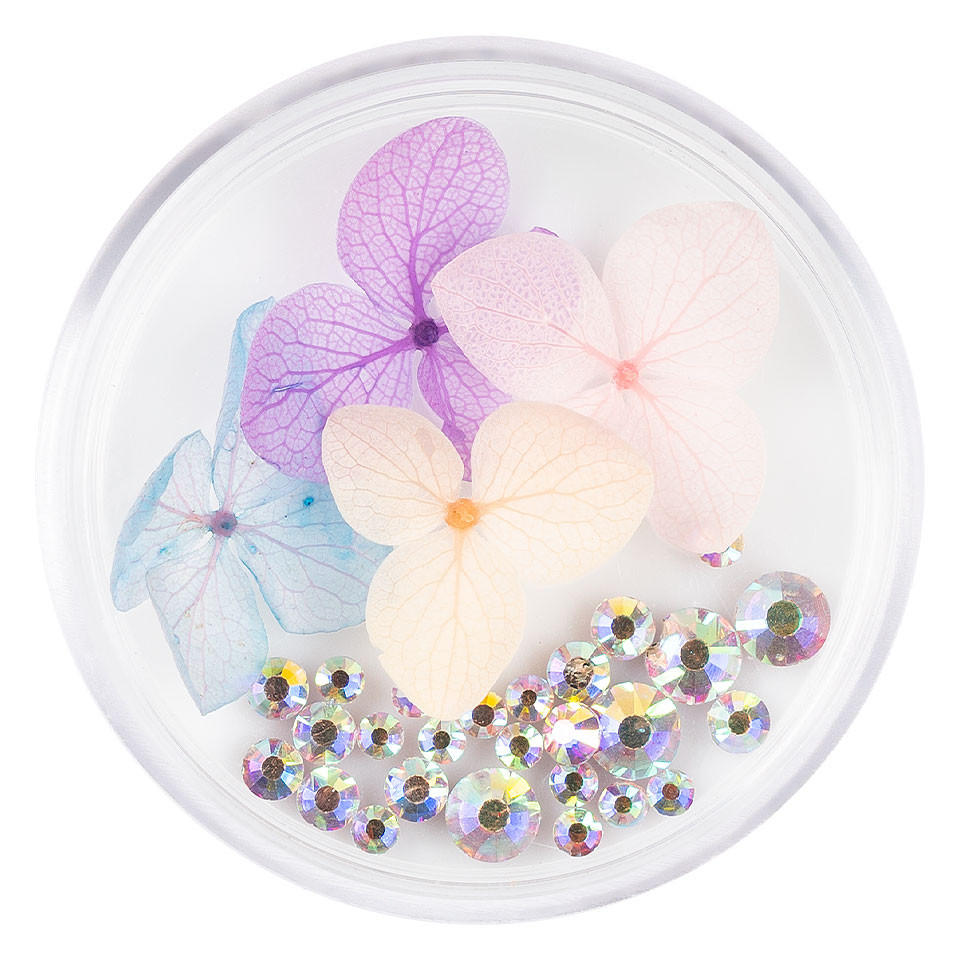 Flori Uscate Unghii LUXORISE cu cristale - Floral Fairytale #15 imagine 2021 kitunghii
