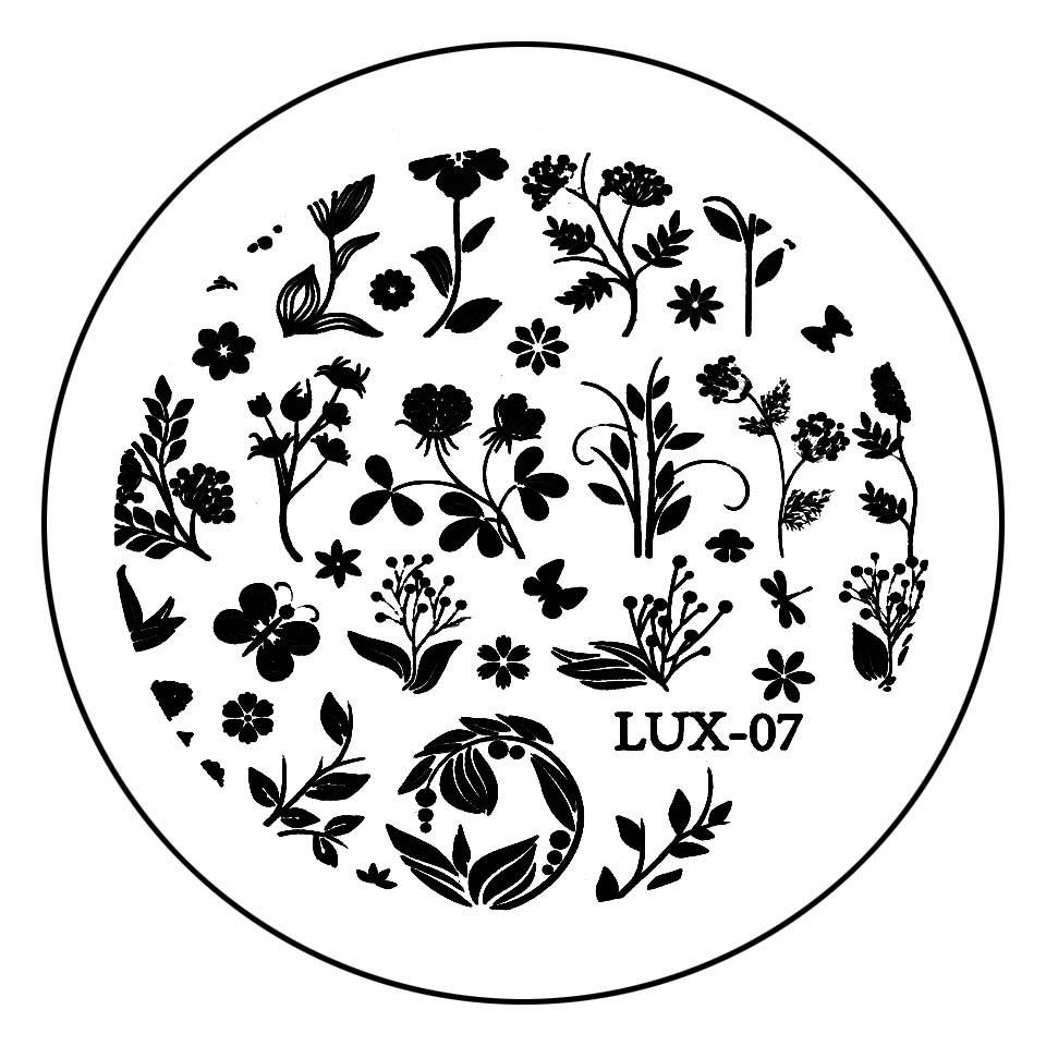 Matrita Metalica Stampila Unghii LUX-07 - Nature kitunghii.ro